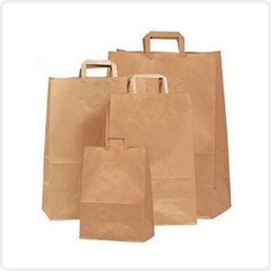 Εικόνα για την κατηγορία Χάρτινες τσάντες με απλό χέρι