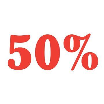 """Εικόνα της ΑΥΤΟΚΟΛΛΗΤΟ ΣΗΜΑ """"50%"""""""