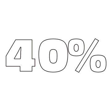 """Εικόνα της ΑΥΤΟΚΟΛΛΗΤΟ ΣΗΜΑ """"40%"""""""