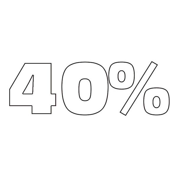 """ΑΥΤΟΚΟΛΛΗΤΟ ΣΗΜΑ """"40%"""""""