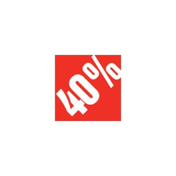 """ΑΥΤΟΚΟΛΛΗΤΟ """"-40%"""" 500ΤΜΧ 3,3 Χ 3,3 CM 500ΤΕΜ"""