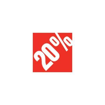 """Εικόνα της ΑΥΤΟΚΟΛΛΗΤΟ """"-20%"""" 500ΤΜΧ 3,3 X 3,3 CM"""