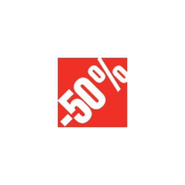 """ΑΥΤΟΚΟΛΛΗΤΟ """"-50%"""" 500ΤΜΧ 3,3 X 3,3 CM"""