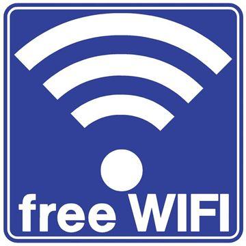 """Εικόνα της ΠΙΝΑΚΙΔΑ ΣΗΜΑΝΣΗΣ PVC """"FREE WIFI"""""""
