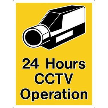 """Εικόνα της ΠΙΝΑΚΙΔΑ ΑΥΤΟΚΟΛΛΗΤΗ """"24 HOURS CCTV OPERATION"""""""