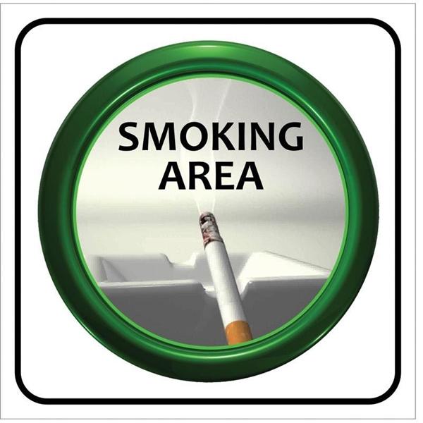 """ΠΙΝΑΚΙΔΑ ΣΗΜΑΝΣΗΣ PVC """"SMOKING AREA"""""""