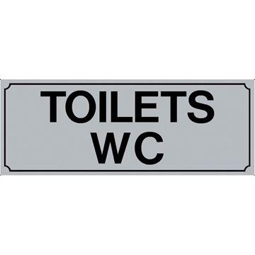 """Εικόνα της ΠΙΝΑΚΙΔΑ ΣΗΜΑΝΣΗΣ PVC """"TOILETS WC"""""""