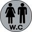 """Εικόνα της ΠΙΝΑΚΙΔΑ ΣΗΜΑΝΣΗΣ ΑΛΟΥΜΙΝΙΟΥ """"W.C. """""""