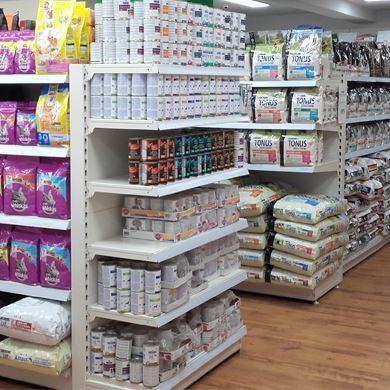 Εικόνα για την κατηγορία Ράφια Premium Σούπερ μάρκετ - Μίνι μάρκετ με διάτρηση κολώνας ανά 50mm