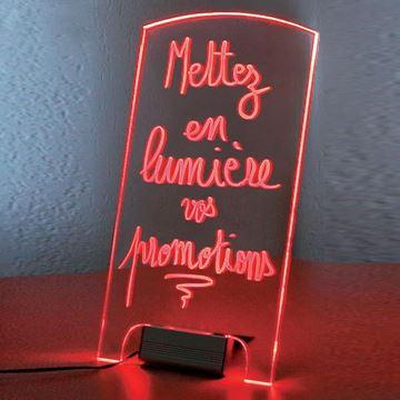 Εικόνα της ΠΙΝΑΚΑΣ PVC ΦΩΤΙΖΟΜΕΝΟΣ ΜΕ LED