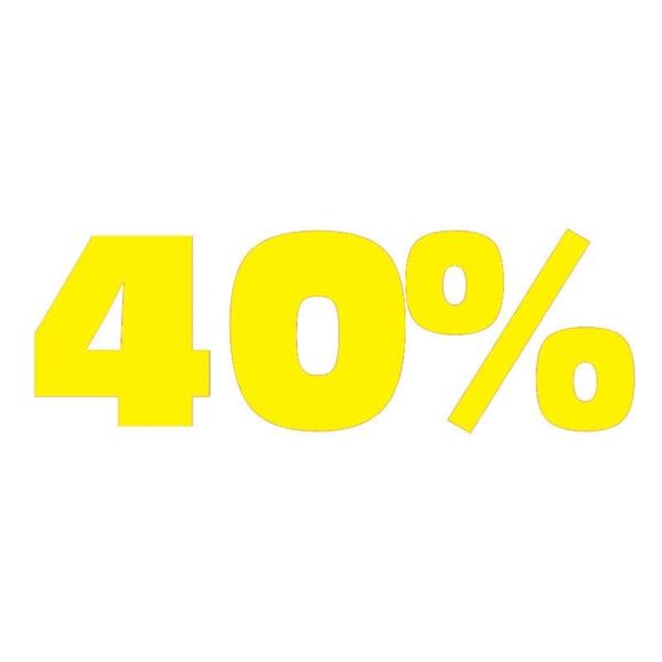 """ΑΥΤΟΚΟΛΛΗΤΟ ΣΗΜΑ """"40%"""" (5ΤΕΜ)"""