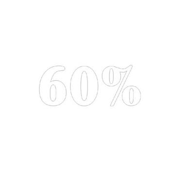 """Εικόνα της ΑΥΤΟΚΟΛΛΗΤΟ ΣΗΜΑ """"60%"""""""