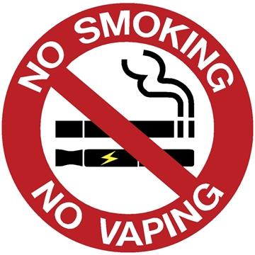 """Εικόνα της ΠΙΝΑΚΙΔΑ ΑΥΤΟΚΟΛΛΗΤΗ """"ΝΟ SMOKING / ΝΟ VAPING"""" 9,5 Χ 9,5 CM"""