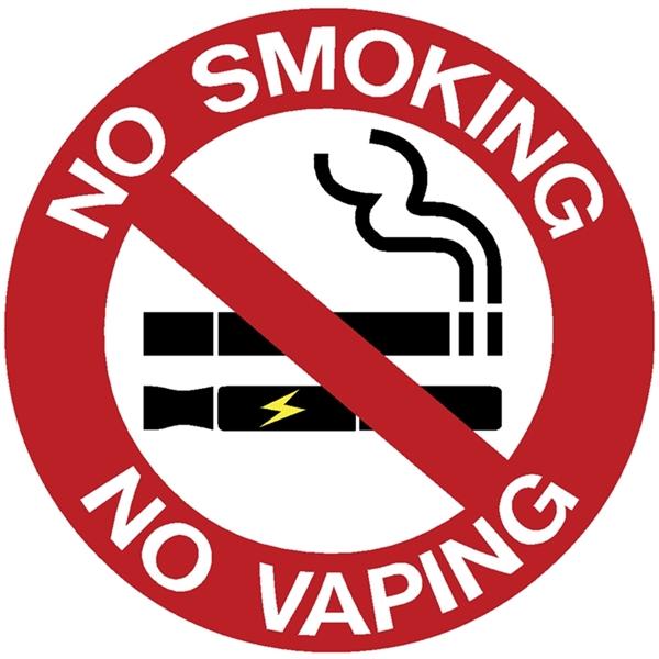 """ΠΙΝΑΚΙΔΑ ΑΥΤΟΚΟΛΛΗΤΗ """"ΝΟ SMOKING / ΝΟ VAPING"""" 9,5 Χ 9,5 CM"""