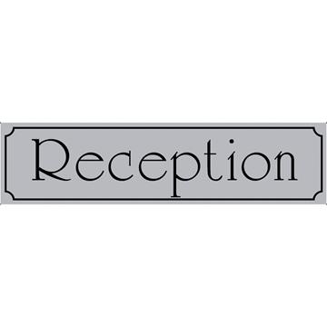 """Εικόνα της ΠΙΝΑΚΙΔΑ ΣΗΜΑΝΣΗΣ ΑΛΟΥΜΙΝΙΟΥ """"RECEPTION"""" 5 Χ 20 CΜ"""