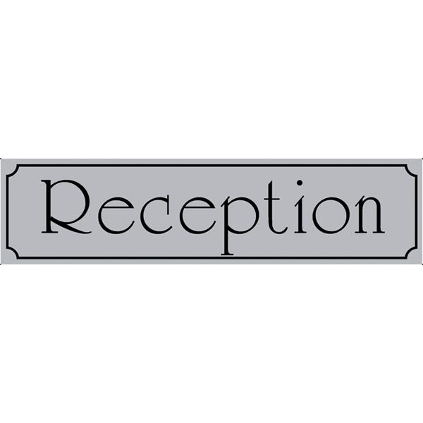 """ΠΙΝΑΚΙΔΑ ΣΗΜΑΝΣΗΣ ΑΛΟΥΜΙΝΙΟΥ """"RECEPTION"""" 5 Χ 20 CΜ"""