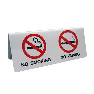 """Εικόνα της ΠΙΝΑΚΙΔΑ ΕΠΙΤΡΑΠΕΖΙΑ ΑΛΟΥΜΙΝΙΟΥ  """"ΝΟ SMOKING/ΝΟ VAPING""""  ΣΥΣΚ. 3ΤΕΜ."""