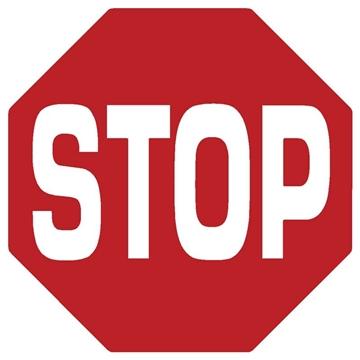 """Εικόνα της ΠΙΝΑΚΙΔΑ ΑΥΤΟΚΟΛΛΗΤΗ """"STOP"""" ΓΙΑ ΤΖΑΜΙΑ 9,5 Χ 9,5 CM"""